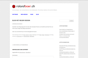 Neues Design des Blogs